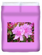 Office Art Pink Azalea Flower Garden 3 Giclee Art Prints Baslee Troutman Duvet Cover
