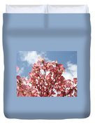 Office Art Prints Blue Sky Pink Dogwood Flowering 7 Giclee Prints Baslee Troutman Duvet Cover