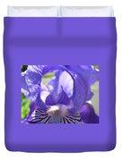 Office Art Prints Irises Purple Iris Flower Giclee Baslee Troutman Duvet Cover