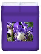Office Art Prints Irises Purple White Iris Flowers 39 Giclee Prints Baslee Troutman Duvet Cover