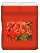 Office Art Prints Orange Azalea Flowers 20 Giclee Prints Baslee Troutman Duvet Cover