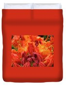 Office Art Prints Orange Azaleas Flowers 9 Giclee Prints Baslee Troutman Duvet Cover