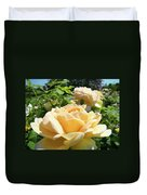 Office Art Prints Rose Peach Orange Rose Flower Baslee Troutman Duvet Cover