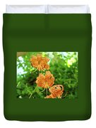 Office Art Prints Tiger Lilies Flowers Nature Giclee Prints Baslee Troutman Duvet Cover