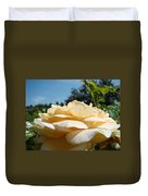 Office Art Rose Landscape Peach Roses Flowers Giclee Baslee Troutman Duvet Cover
