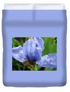 Office Art Wet Blue Iris Flower Floral Giclee Baslee Troutman Duvet Cover