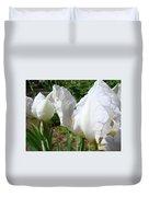 Office Art White Iris Flowers Giclee Art Prints Irises Baslee Troutman Duvet Cover