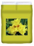 Office Art Yellow Iris Flower Irises Giclee Prints Baslee Troutman Duvet Cover