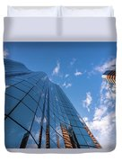 Office Buildings And Sky Duvet Cover
