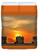 Officer's Row At Sunset Duvet Cover
