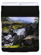 Ogwen Rock Waterfall Duvet Cover