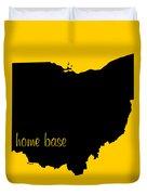 Ohio Is Home Base Black Duvet Cover