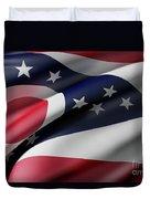 Ohio State Flag Duvet Cover
