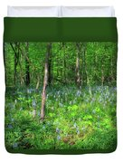 Ohio Wildflowers In Spring Duvet Cover