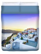 Oia, Santorini - Greece Duvet Cover