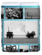 Oil And Gas Industry Duvet Cover
