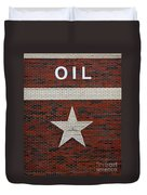 Oil And Texas Star Sign Duvet Cover
