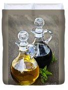Oil And Vinegar Duvet Cover by Elena Elisseeva