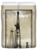 Oil Derrick Vi Duvet Cover