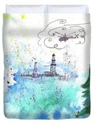 Oil Drilling Duvet Cover