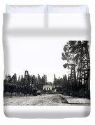 Oil Field Residential Los Angeles C. 1901 Duvet Cover
