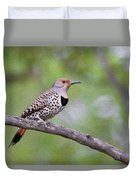 Oil Painted Northern Flicker Duvet Cover
