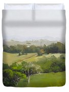 Oil Painting From Mt Cooroy Sunshine Coast Queensland Australia Duvet Cover