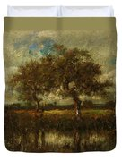 Oil Painting Landscape Duvet Cover