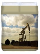 Oil Pumpjack Duvet Cover