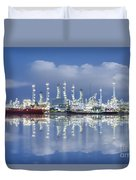 Oil Refinery Industry Plant Duvet Cover