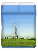 Oil Rig In North Dakota Duvet Cover