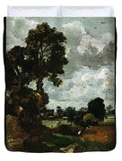 Oil Sketch Of Stoke-by-nayland Duvet Cover