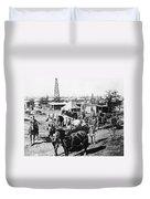 Oil: Texas, 1920 Duvet Cover