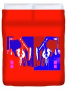 Oil Well Pump Abstract Duvet Cover