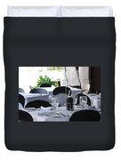 Oils And Glass At Dinner Duvet Cover
