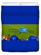 O.k. Blue Jays Let's Play Ball Duvet Cover