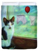 Ok I'll Pose - Painting - By Liane Wright Duvet Cover