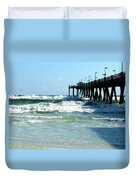 Okaloosa Pier Breaking Duvet Cover