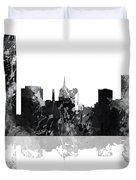 Oklahoma City Oklahoma Skyline Duvet Cover