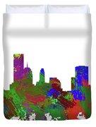Oklahoma City Skyline Painted Duvet Cover