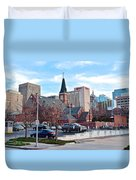 Oklahoma City Wide Angle Duvet Cover