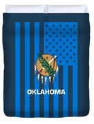 Oklahoma State Flag Graphic Usa Styling Duvet Cover