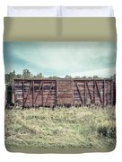 Old Abandoned Box Cars Central Vermont Duvet Cover