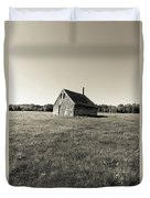 Old Abandoned Farm Building Duvet Cover