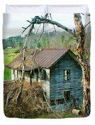 Old Abandoned Rural Hose Duvet Cover