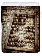 Old Accounting Wooden Abacus Duvet Cover