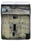 Old Adobe Building In Otavalo Duvet Cover