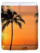 Old Airport Beach Sunset Duvet Cover