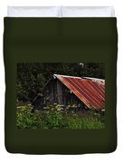 Old Alaskan Shed Duvet Cover