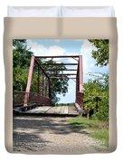 Old Alton Bridge In Denton County Duvet Cover